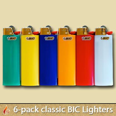 6-Pack BIC Lighters