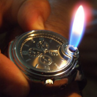 Lighter with Analog Wa..